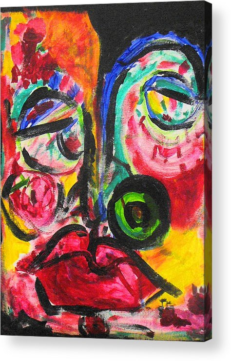 Face Acrylic Print featuring the painting Faces II by Joyce Goldin