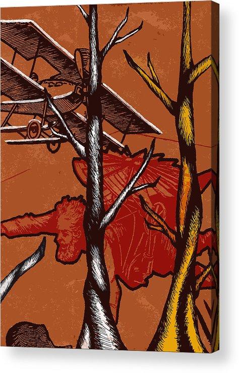 Nature Acrylic Print featuring the painting Flight by Jeff DOttavio