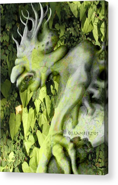 Green Acrylic Print featuring the digital art Floater In The Forrest by J P Lambert