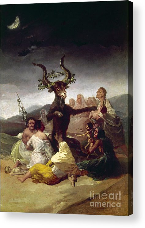 1795 Acrylic Print featuring the photograph Goya: Witches Sabbath by Granger
