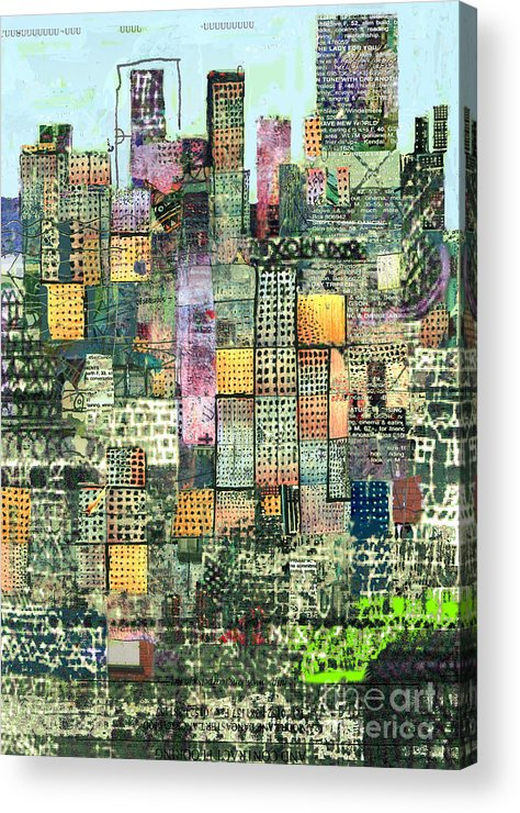 Urban Art Acrylic Print featuring the digital art Green Metropolis by Andy Mercer