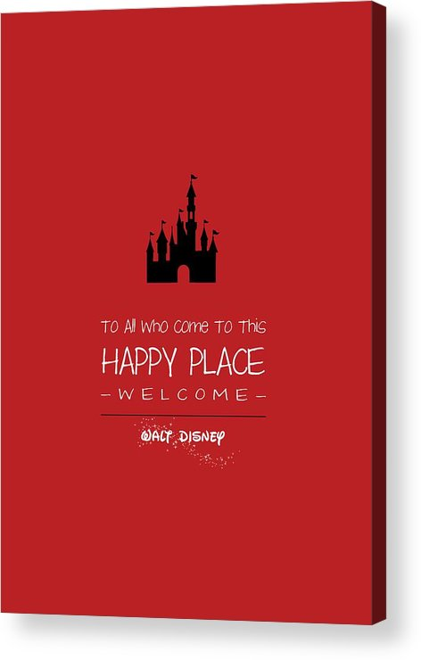 Disney Acrylic Print featuring the digital art Happy Place by Nancy Ingersoll