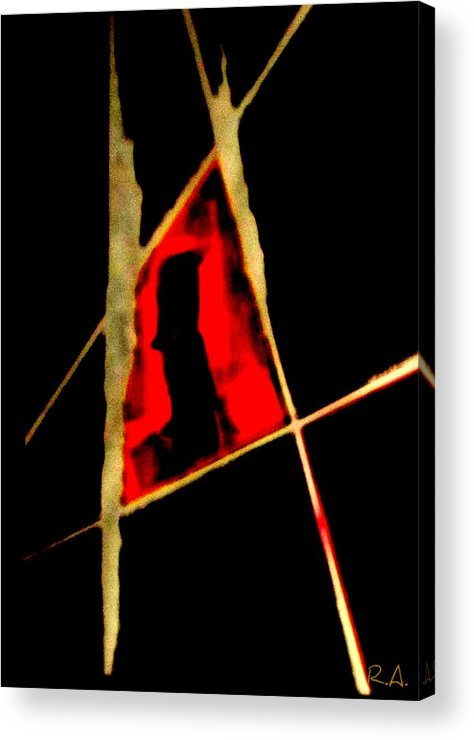 Abstract Acrylic Print featuring the painting Heated Moment by Rene Avalos