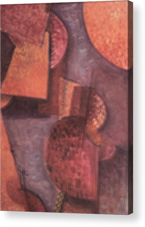 Abstract Acrylic Print featuring the painting Innner Self by Kevin Stevens