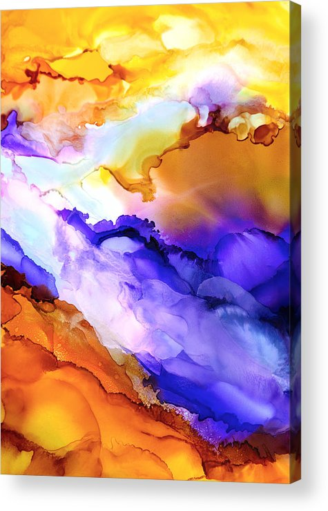 Abstract Acrylic Print featuring the painting Intrepid Adventure - C - by Sandy Sandy