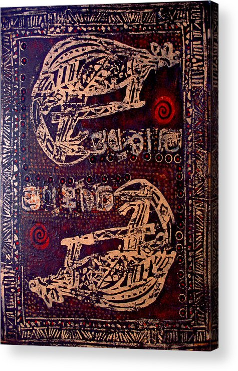 Tribal Acrylic Print featuring the painting Kangaroo by Dale Witherow