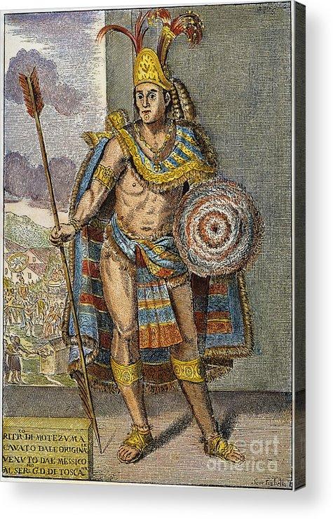 15th Century Acrylic Print featuring the photograph Montezuma II (1480?-1520) by Granger