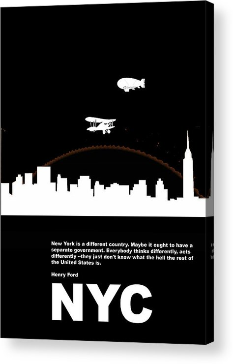 New York Acrylic Print featuring the photograph Nyc Night Poster by Naxart Studio