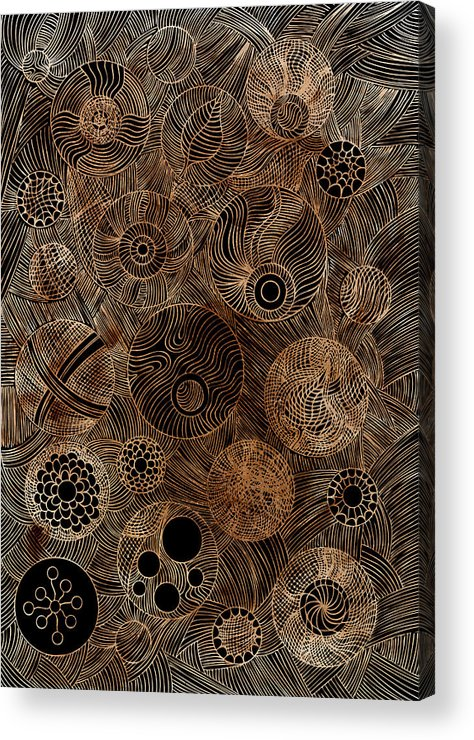 Frank Tschakert Acrylic Print featuring the painting Organic Forms by Frank Tschakert