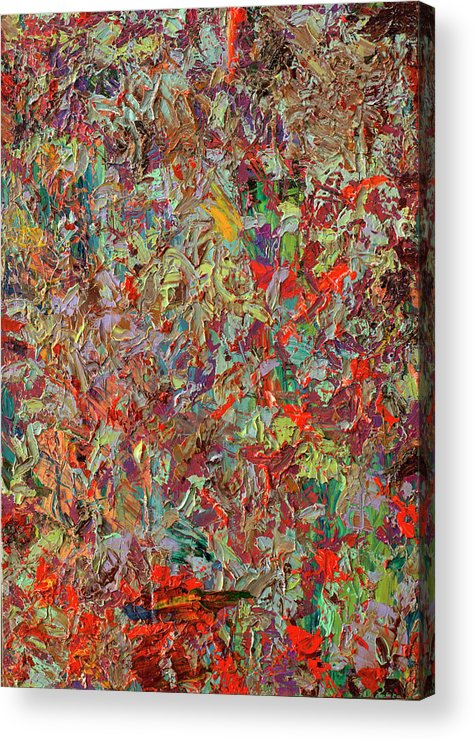 Abstract Acrylic Print featuring the painting Paint Number 33 by James W Johnson