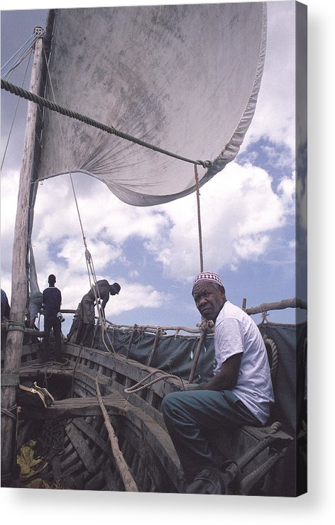Pemba Island Acrylic Print featuring the photograph Pemba Boat by Marcus Best