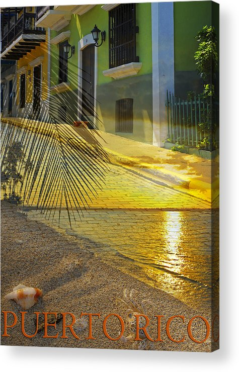Puerto Rico Acrylic Print featuring the photograph Puerto Rico Collage 3 by Stephen Anderson
