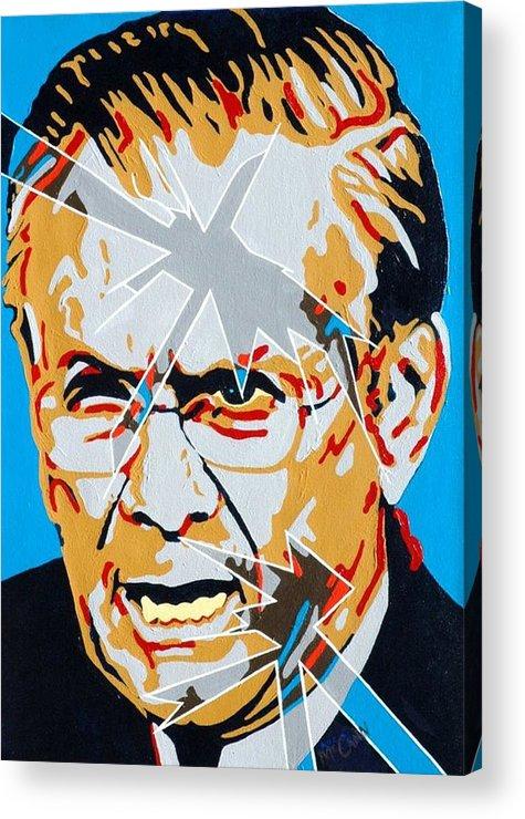 Politics Acrylic Print featuring the painting Rumsfeld by Dennis McCann