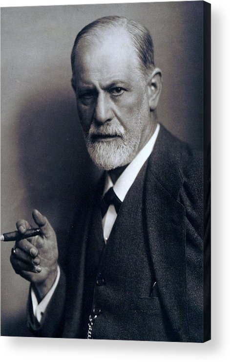 History Acrylic Print featuring the photograph Sigmund Freud 1856-1939 Smoking Cigar by Everett