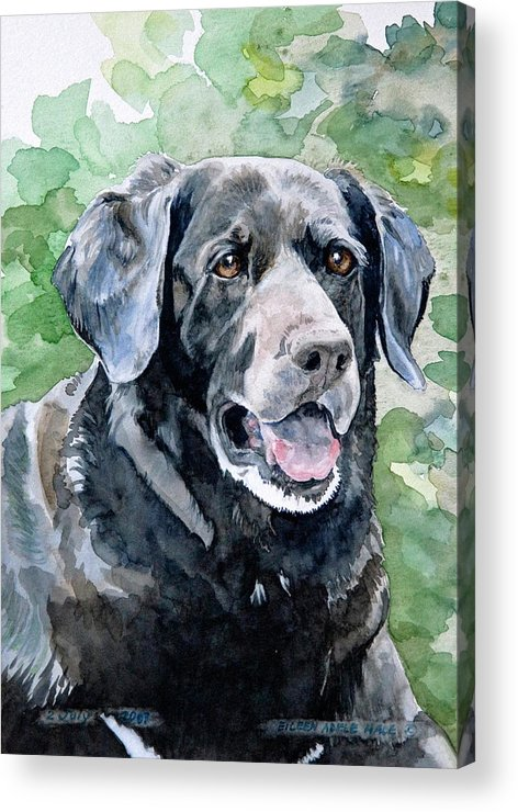Portrait Acrylic Print featuring the painting Starr by Eileen Hale