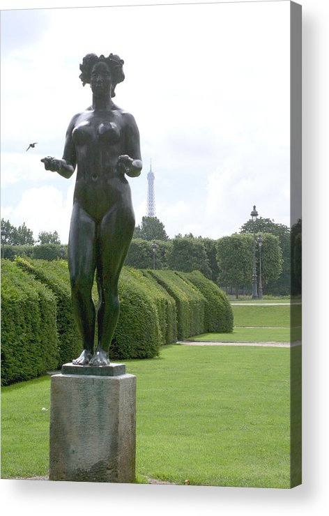 Statue Acrylic Print featuring the photograph Statues At The Louvre by Greg Sharpe