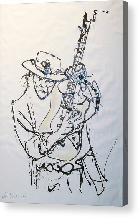 Abstract Acrylic Print featuring the drawing Stevie by Ernie Scott- Dust Rising Studios
