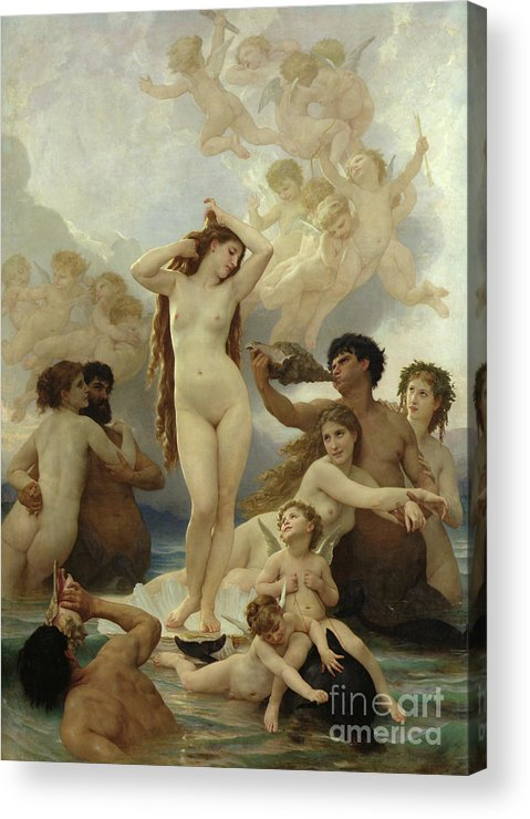 The Acrylic Print featuring the painting The Birth Of Venus by William-Adolphe Bouguereau