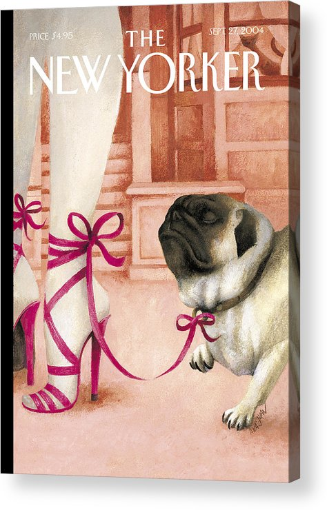 Brought Acrylic Print featuring the painting The New Yorker Cover - September 27th, 2004 by Ana Juan