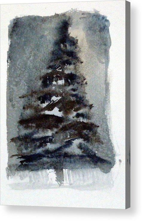 Pine Tree Acrylic Print featuring the painting The Pine Tree by Mindy Newman