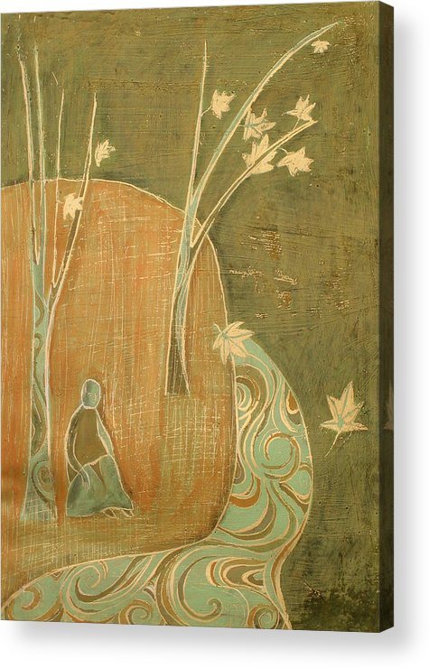 Landscape Acrylic Print featuring the painting Time Is Coming by Aliza Souleyeva-Alexander