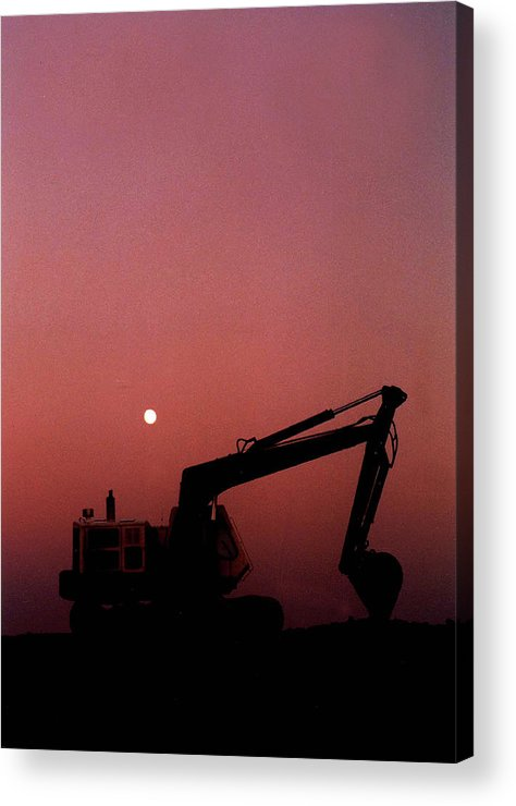 Track Hoe Acrylic Print featuring the photograph Trackhoe by Michael Smith