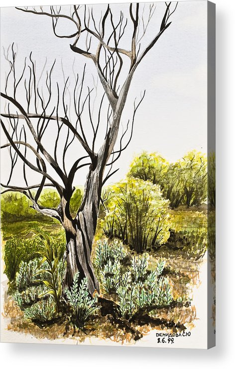 Tree Acrylic Print featuring the painting Tree Painting by Svetlana Sewell