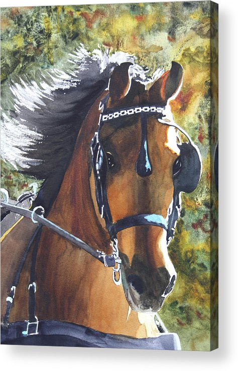 Horse Acrylic Print featuring the painting Victorious by Ally Benbrook