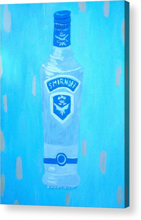 Pop Art Acrylic Print featuring the painting Vodka by Patrice Tullai