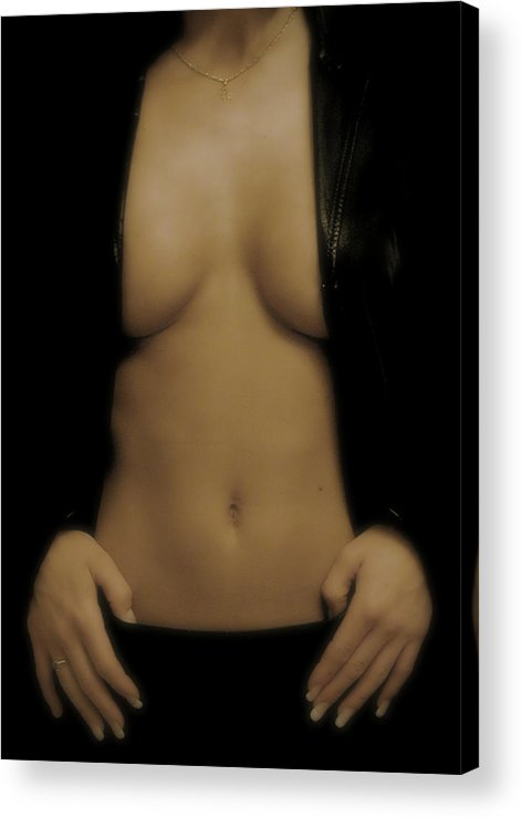 Photography Acrylic Print featuring the photograph Women Body - Front by Robert Litewka