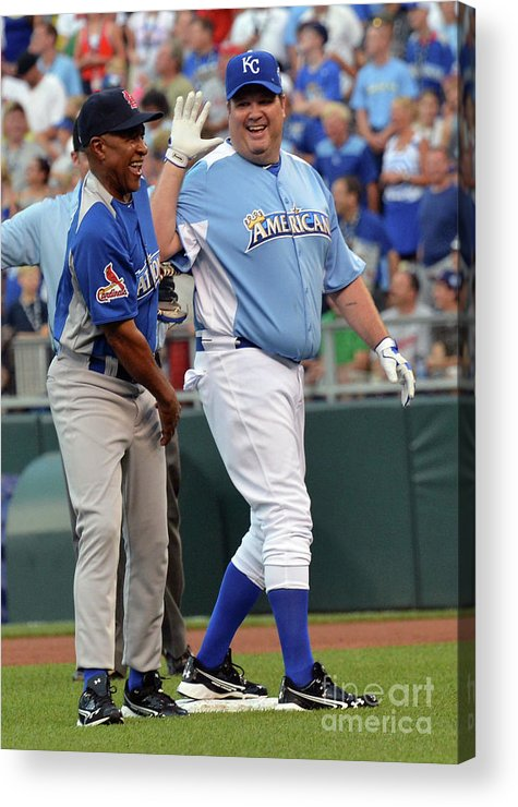 Softball Acrylic Print featuring the photograph 2012 Taco Bell All-star Legends & 1 by Rick Diamond