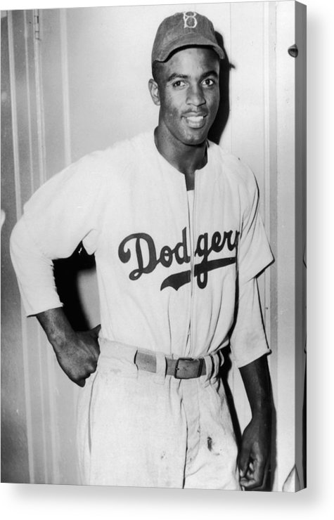 People Acrylic Print featuring the photograph Jackie Robinson 3 by Hulton Archive
