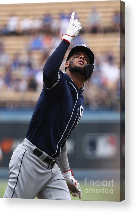 Three Quarter Length Acrylic Print featuring the photograph San Diego Padres V Los Angeles Dodgers by Victor Decolongon