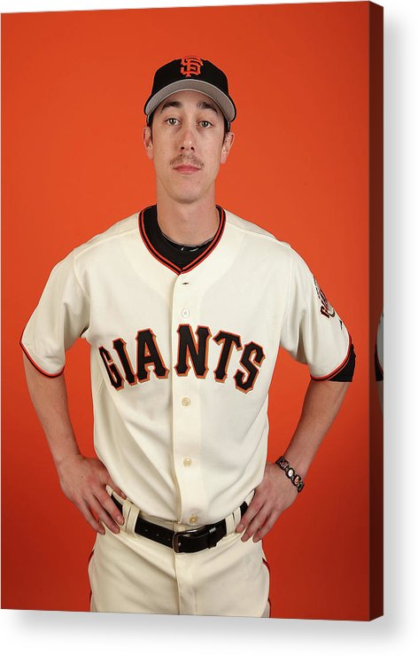 Media Day Acrylic Print featuring the photograph Tim Lincecum by Christian Petersen