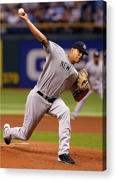 American League Baseball Acrylic Print featuring the photograph Dellin Betances by J. Meric
