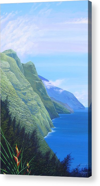 Landscape Acrylic Print featuring the painting Sunshine In The Shade by Hunter Jay