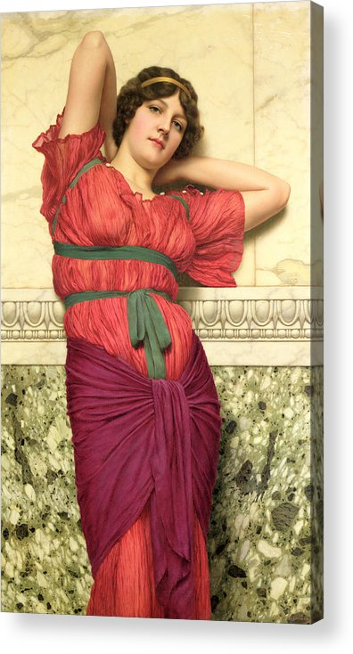 Contemplation Acrylic Print featuring the painting Contemplation by John William Godward