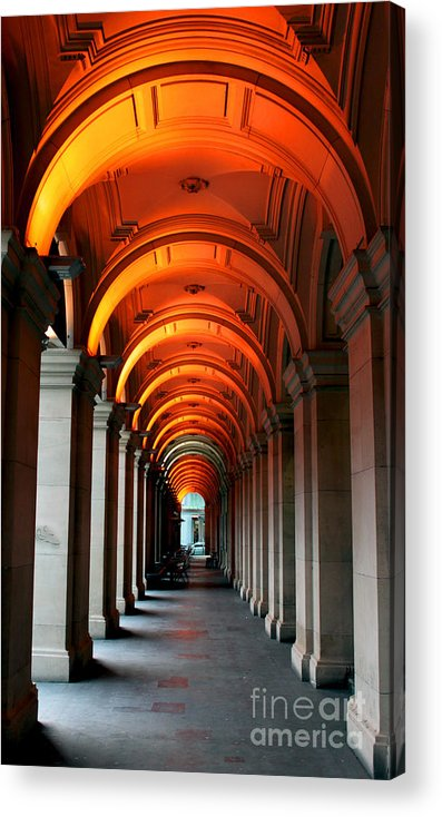 Arch Acrylic Print featuring the photograph Glowing Iteration by Andrew Paranavitana