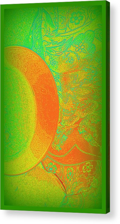Green Mango Bali Acrylic Print featuring the mixed media Green Mango Bali Style by Wendy Wiese
