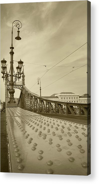Black And White Acrylic Print featuring the photograph Bridges by Supertramp One