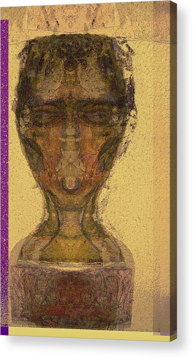 Relgion Acrylic Print featuring the mixed media Coptic 3 by Noredin Morgan