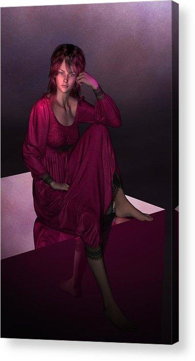 Digital Artwork Digital Art Acrylic Print featuring the digital art Just Chillin' by Linda Cole