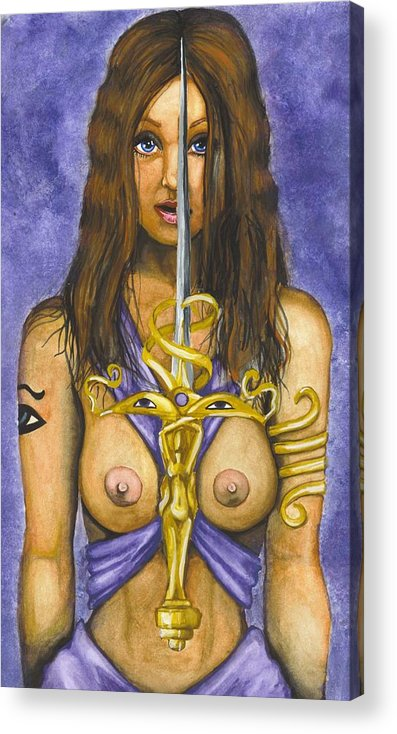 Sword Acrylic Print featuring the painting The Sword Of Magic by Scarlett Royal
