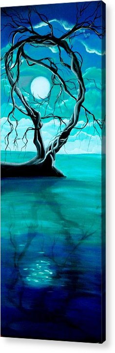 Landscape Framed Prints Acrylic Print featuring the painting Silent Beauty by Angie Phillips