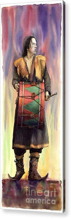 Watercolor Acrylic Print featuring the painting Varius Coloribus Abul by Yuriy Shevchuk