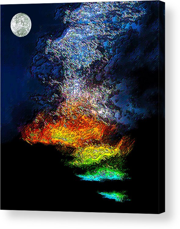 Volcano Acrylic Print featuring the photograph Volcano by Bruce Iorio