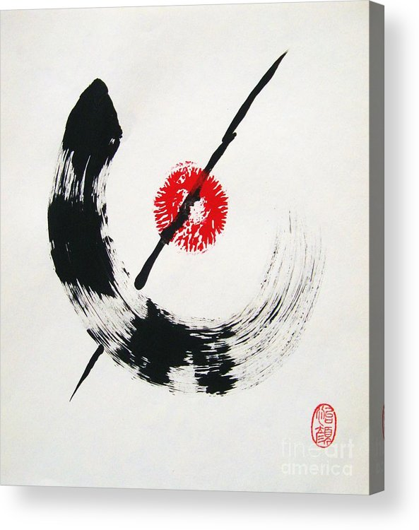 Abstract Acrylic Print featuring the painting Zen No Seishin by Roberto Prusso