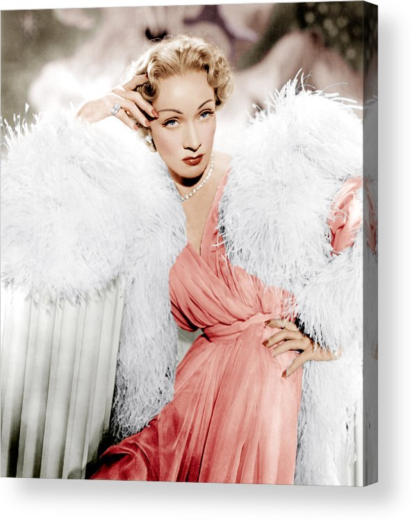 1950 Movies Acrylic Print featuring the photograph Stage Fright, Marlene Dietrich Wearing by Everett