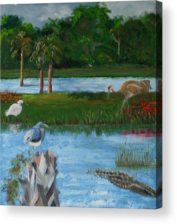 Marsh Acrylic Print featuring the painting Dream Scene by Libby Cagle