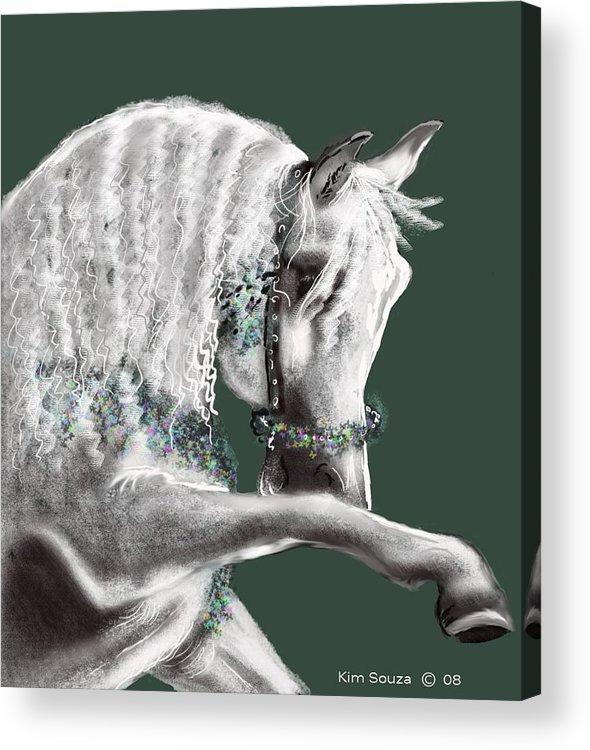 Arabian Acrylic Print featuring the painting Arabian by Kim Souza